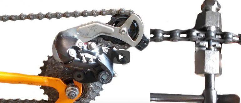 Как определить длину цепи, снять и натянуть цепь на велосипеде.