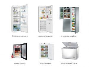 Виды бытового холодильного оборудования