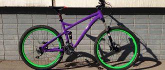 Как покрасить велосипед из баллончика?